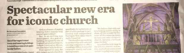 'Painting with light' at St Wilfred's Church gets a mention in the local paper!