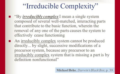 Irreducible Complexity