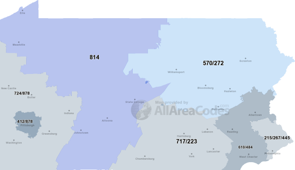 267 Area Code 267 Map time zone and phone lookup