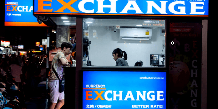 a currency exchange office