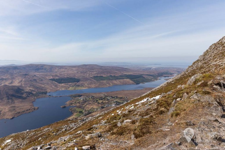 Towards Dunlewy Lough and Lough Nacung Upper