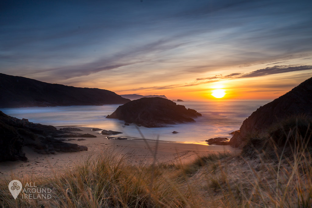 Sunset at Murder Hole Beach, Donegal