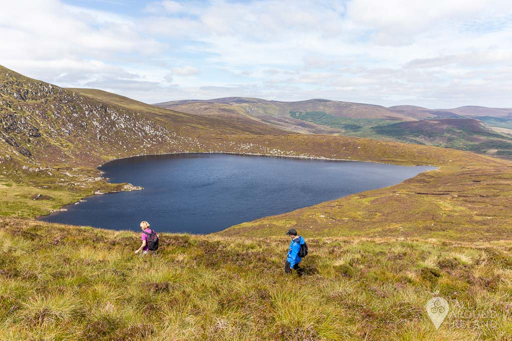 Getting up higher to view Lough Ouler from above.