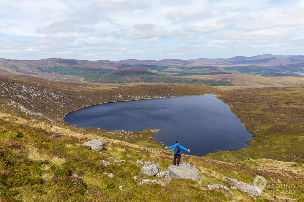 José at the top of Lough Ouler, the best angle to view it's distinctive heart shape.