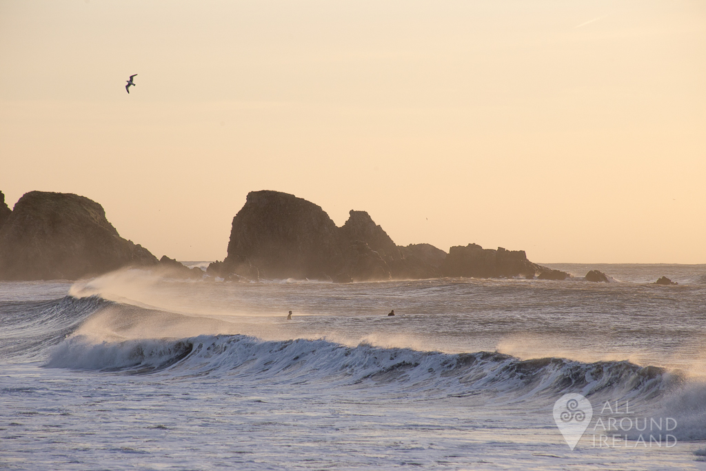 Sunrise Surfers at Bunmahon Beach on the Copper Coast