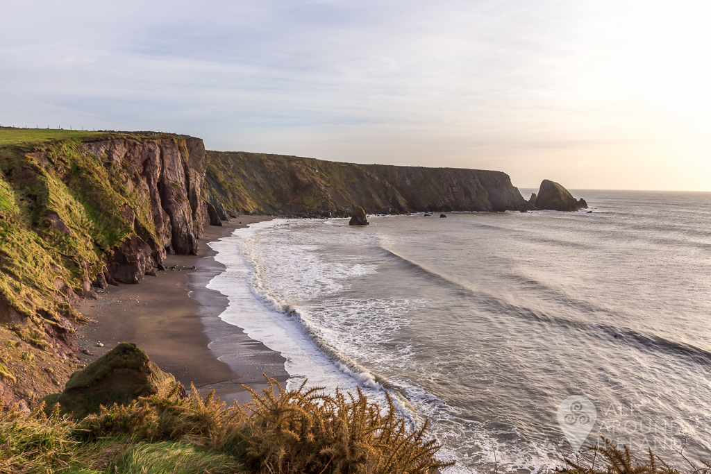 Sweeping view of Ballydwan Bay on the Copper Coast