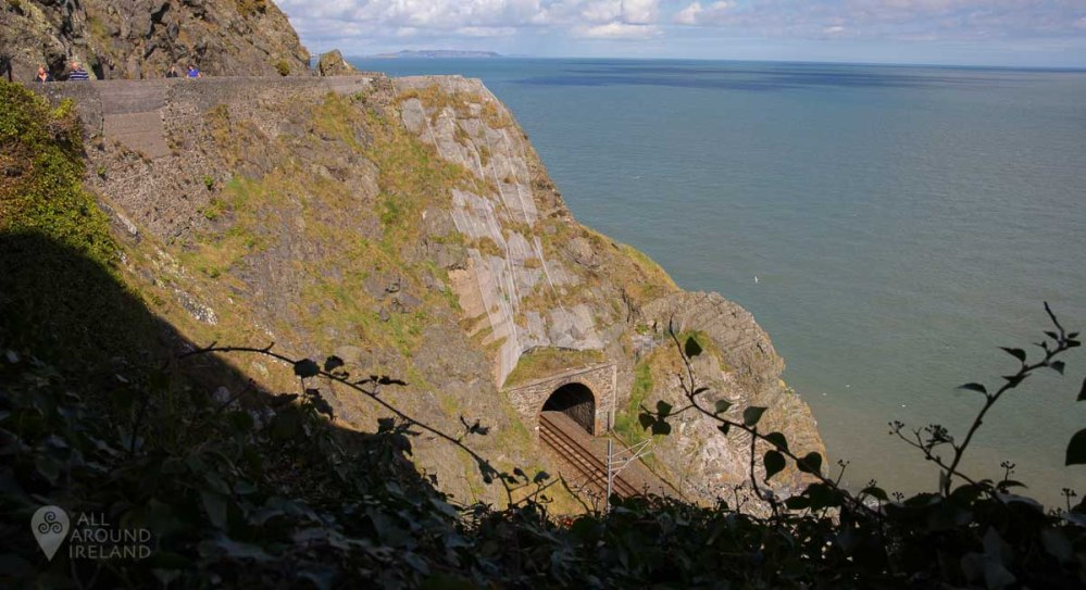 Tunnel along the Bray to Greystones cliff walk