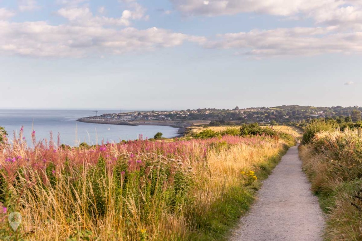 Looking back to Greystones and the Bray to Greystones cliff walk