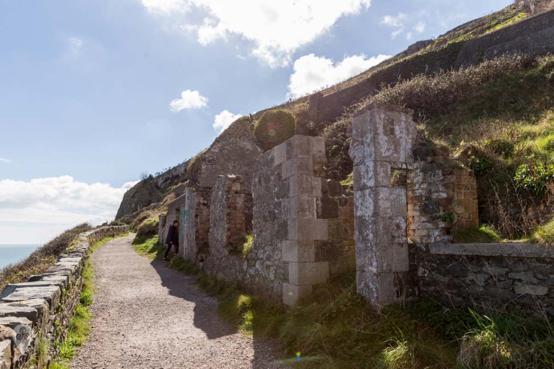 Ruins of Lord Meath's Lodge on Bray Head, Wicklow, Ireland