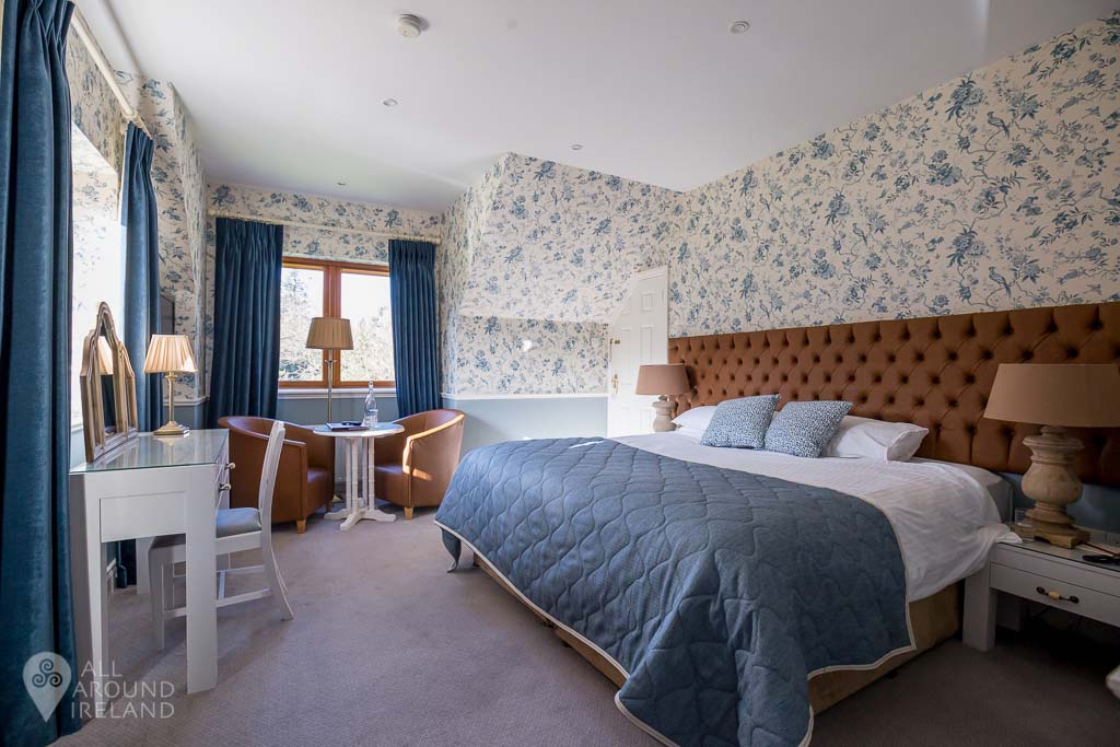 Our bedroom in one of the cottages at Cabra Castle Hotel