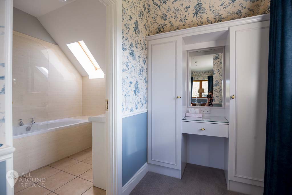 Ensuite and dressing room at the cottages at Cabra Castle