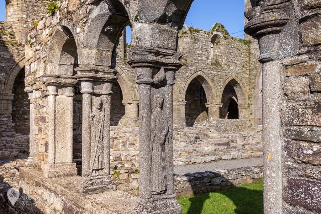 More stone carvings on the cloister at Jerpoint Abbey in Kilkenny, Ireland