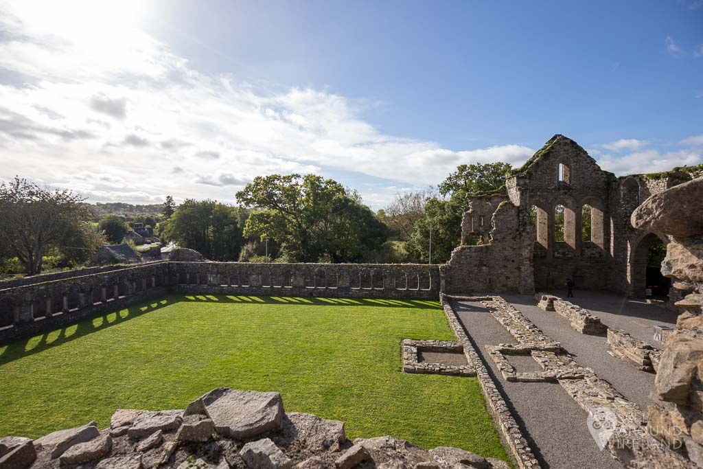Looking down from upper level at Jerpoint Abbey in Kilkenny, Ireland