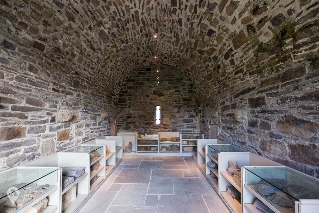Many artefacts on display at Jerpoint Abbey in Kilkenny, Ireland.