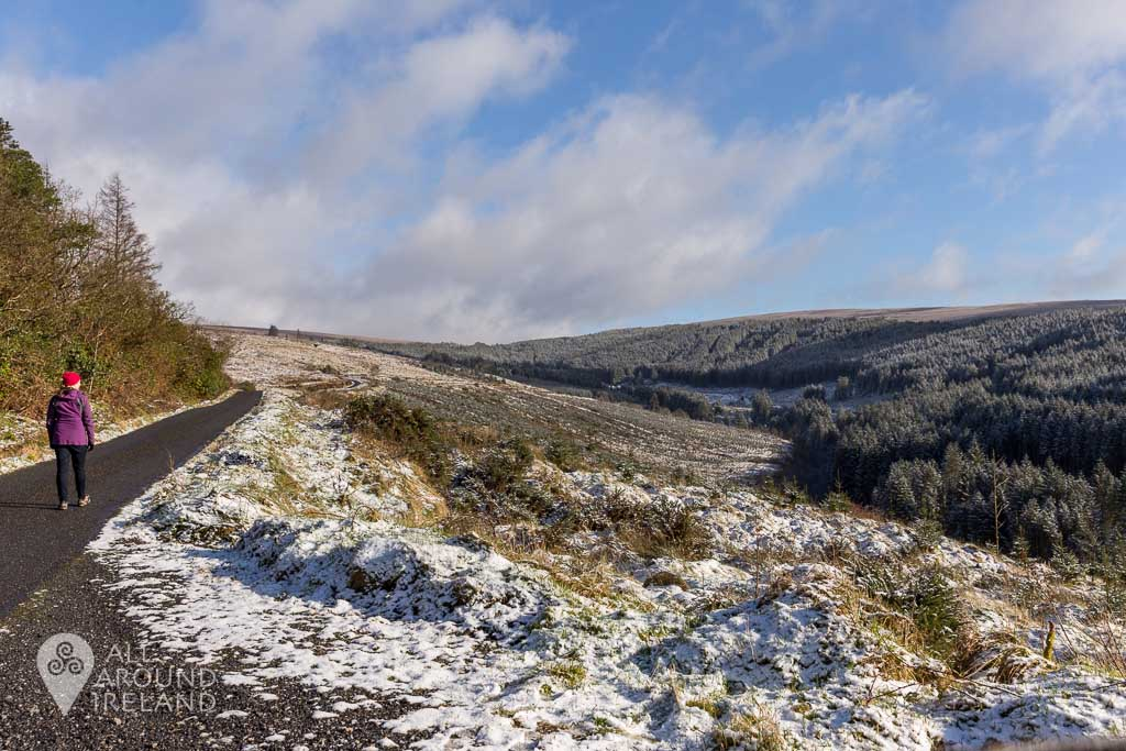 Slieve Bloom Moutains on a snowy day