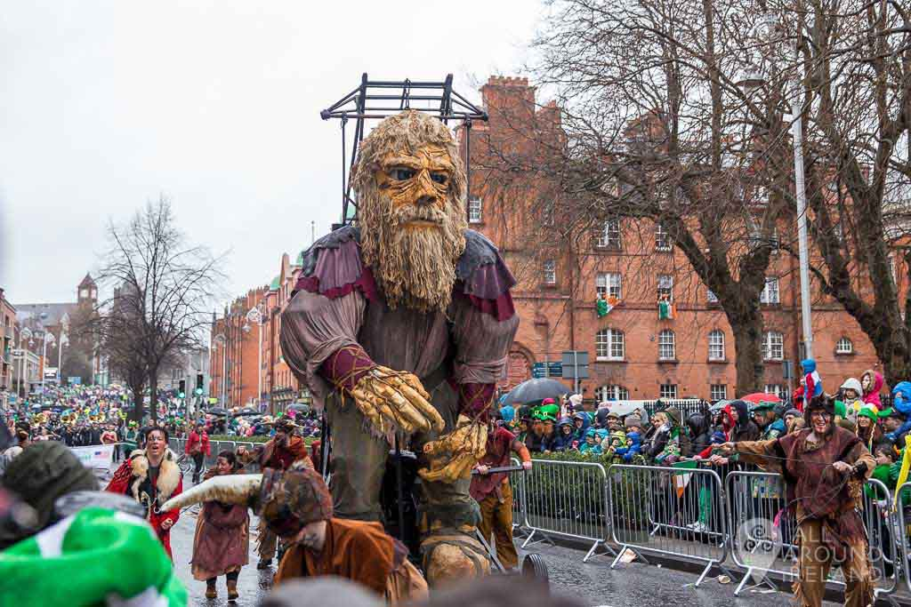 The St Patrick's Day Parade in Dublin 2017