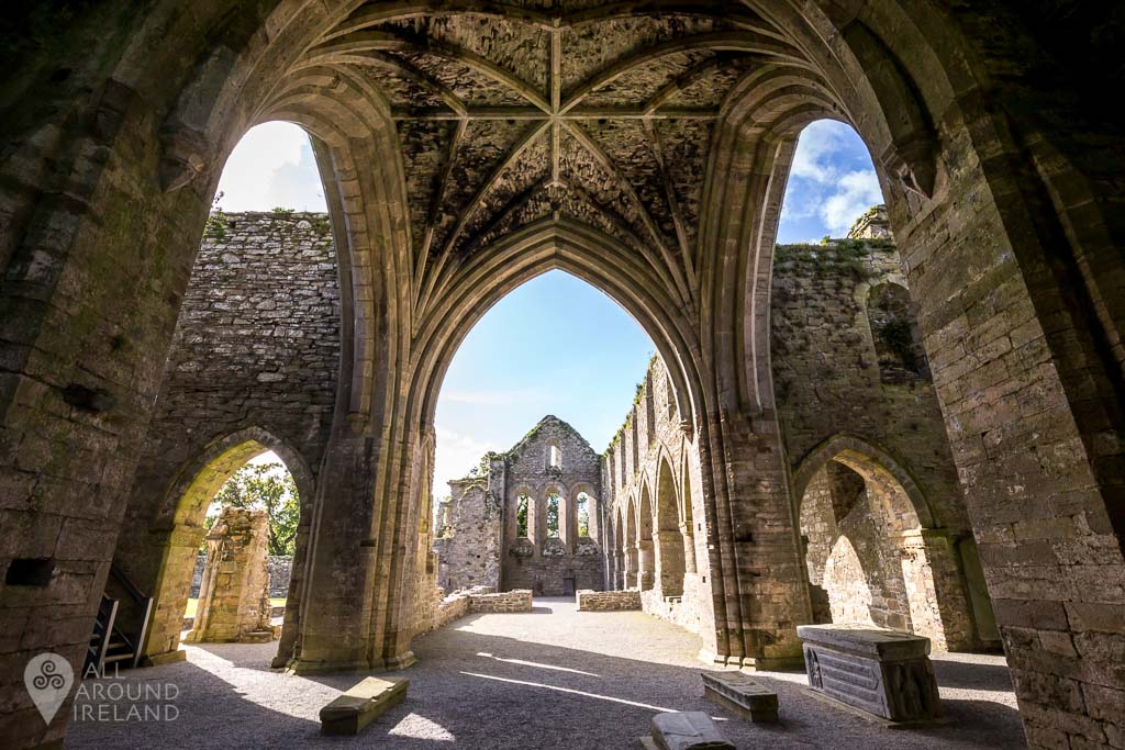 Jerpoint Abbey - ruins of a 12th century abbey in Kilkenny