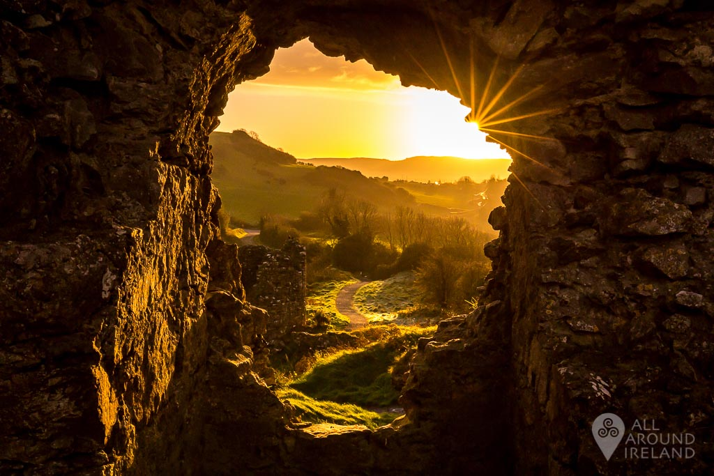 A new day begins at the Rock of Dunamase in Laois