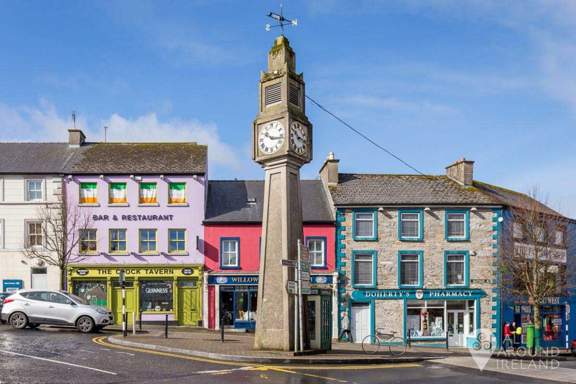 Clock Tower in the centre of Westport
