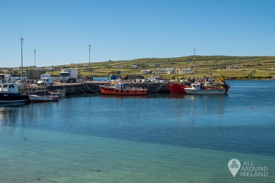 Beautiful clear waters at Portmagee marina.