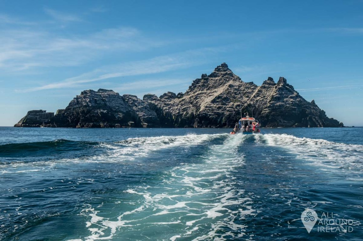 Heading for Little Skellig, Europe's second largest gannet colony.