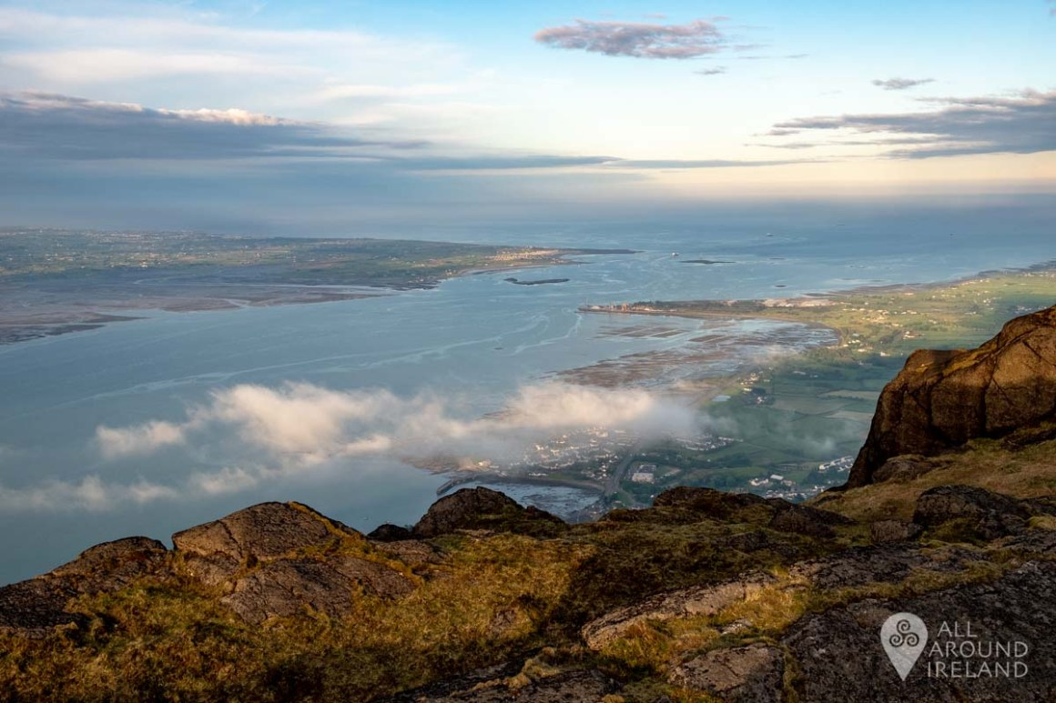Views of Carlingford Lough from the summit of Slieve Foye