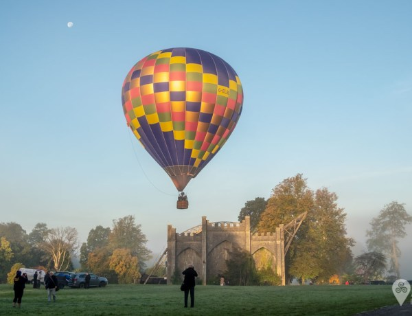 feature image - balloon flies over the telescope at Birr Castle