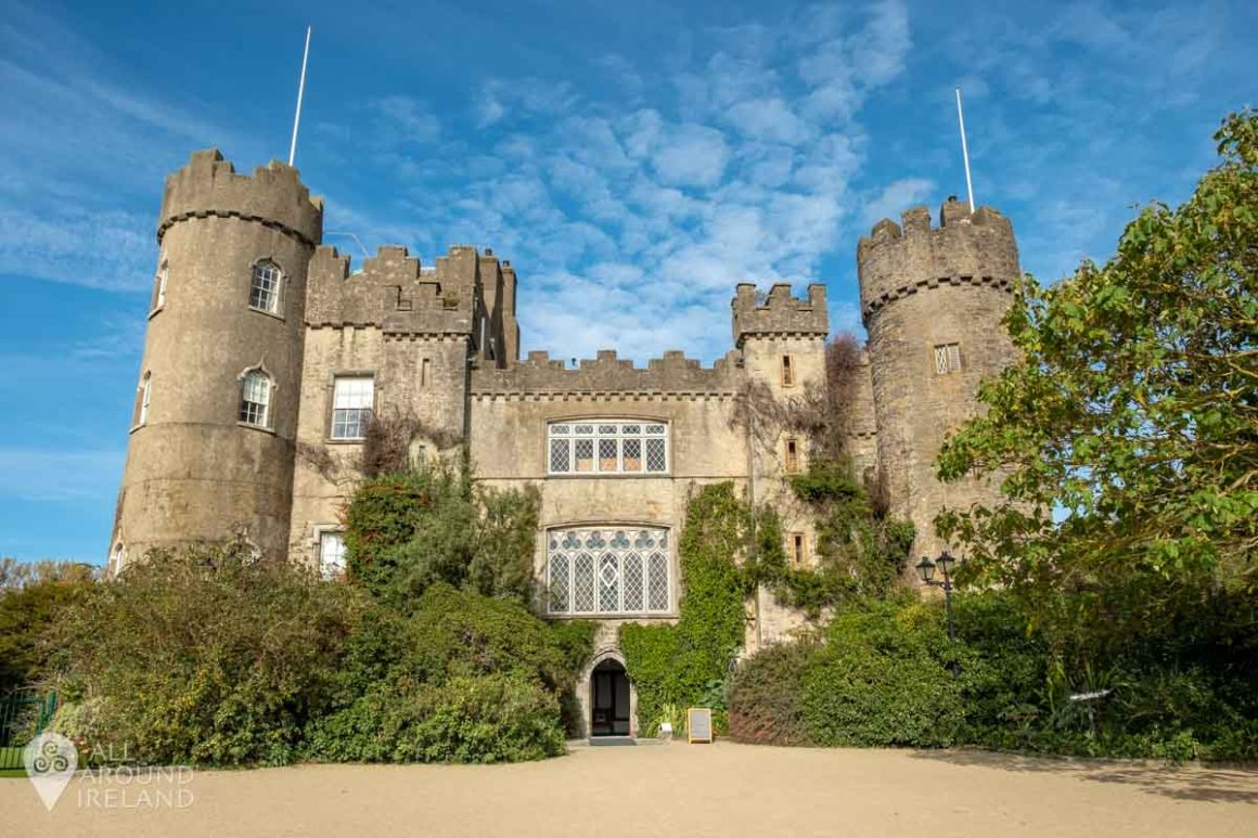 Full frontal of Malahide Castle in Dublin!