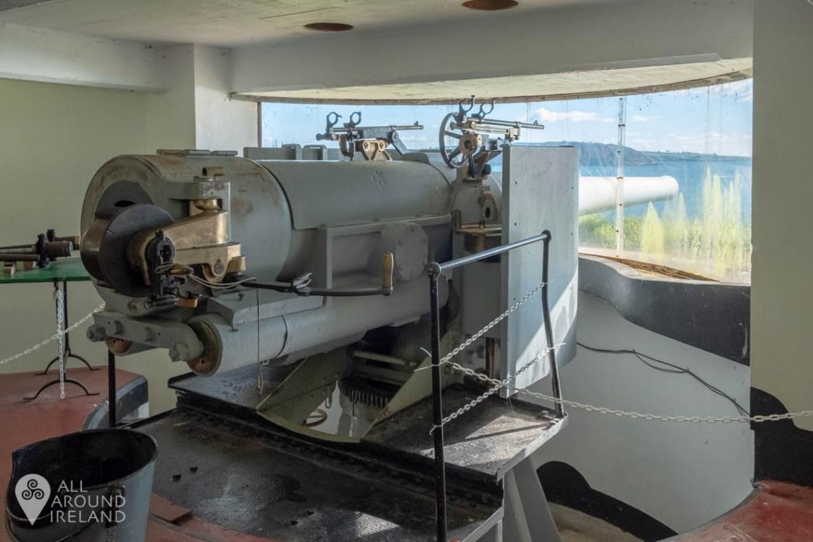 6 inch gun in Bastion 2 inside Fort Mitchel, Spike Island
