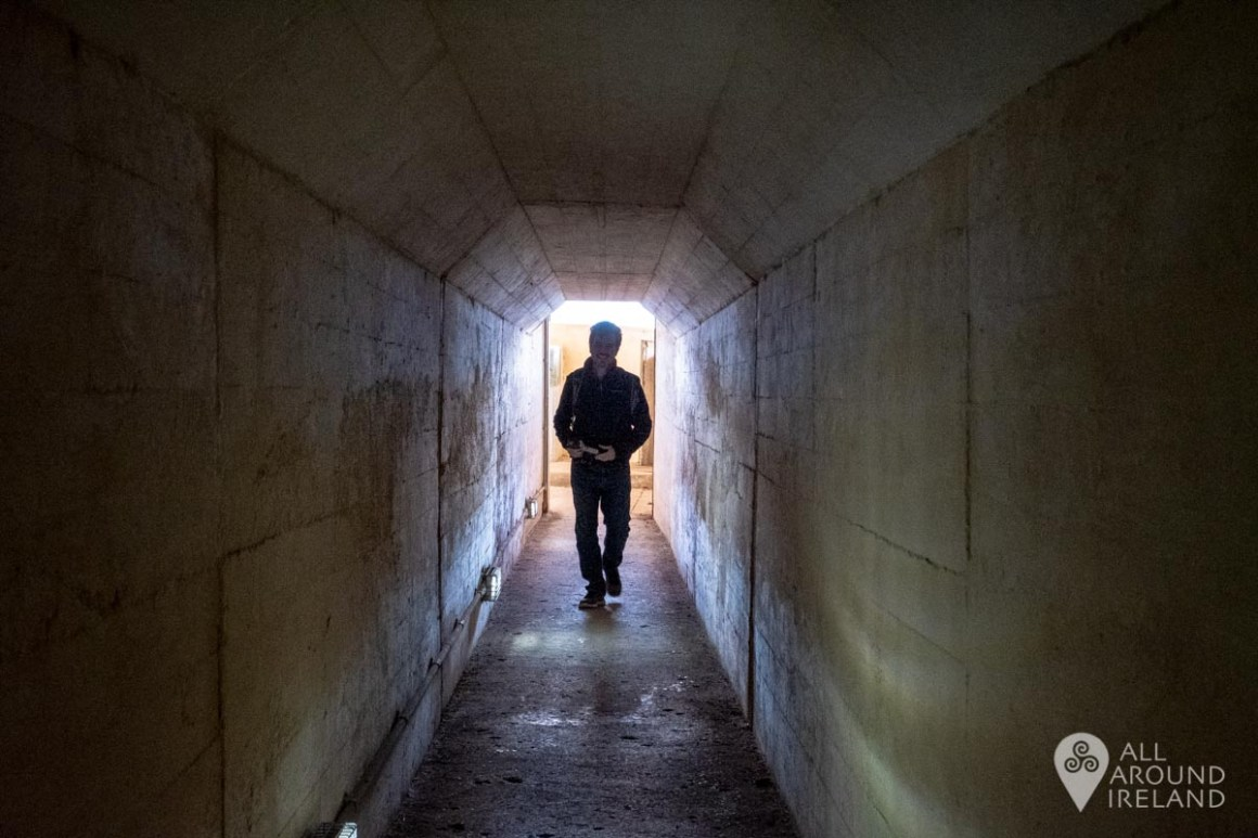 Exploring the tunnels on Spike Island