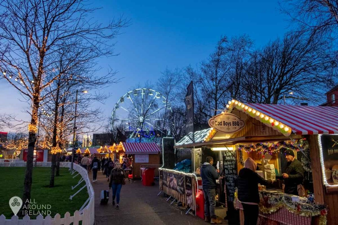 Night falls and the fun begins at the Galway Christmas Market