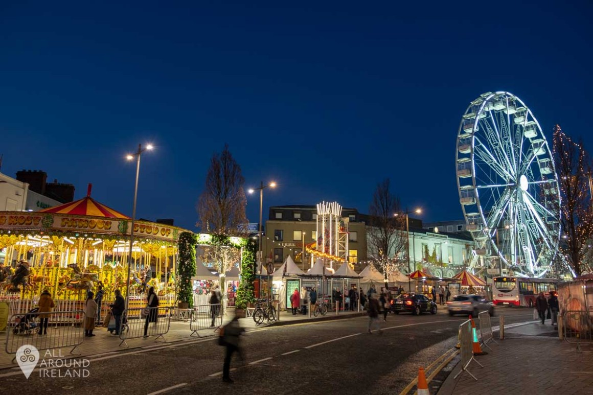 The carousel and Big Wheel at the Galway Christmas Market