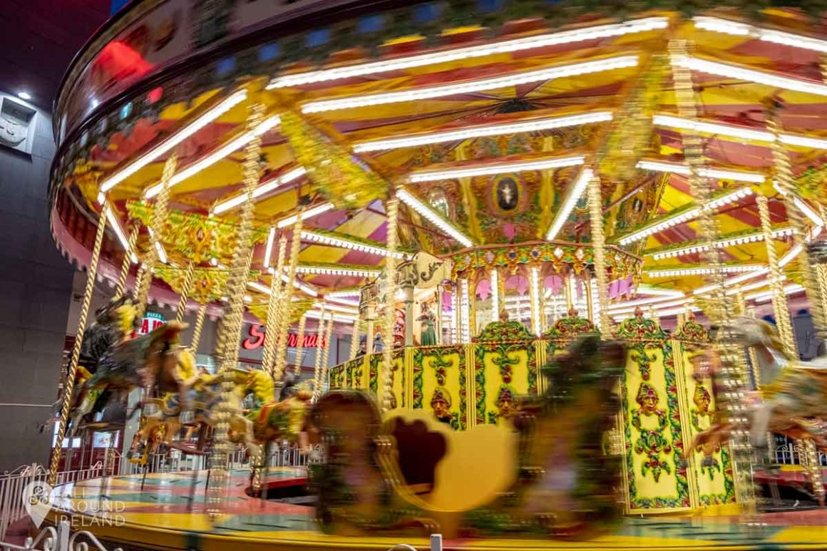 Old school carousel at the Galway Christmas Market