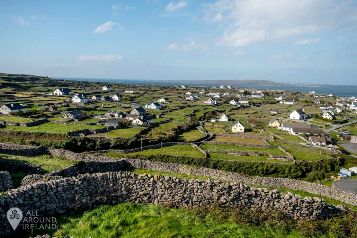 One of the stunning views from O'Brien's Castle on Inis Oirr
