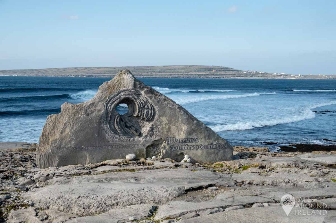 """An Chloch"" - Fisherman's memorial on Inis Oirr"