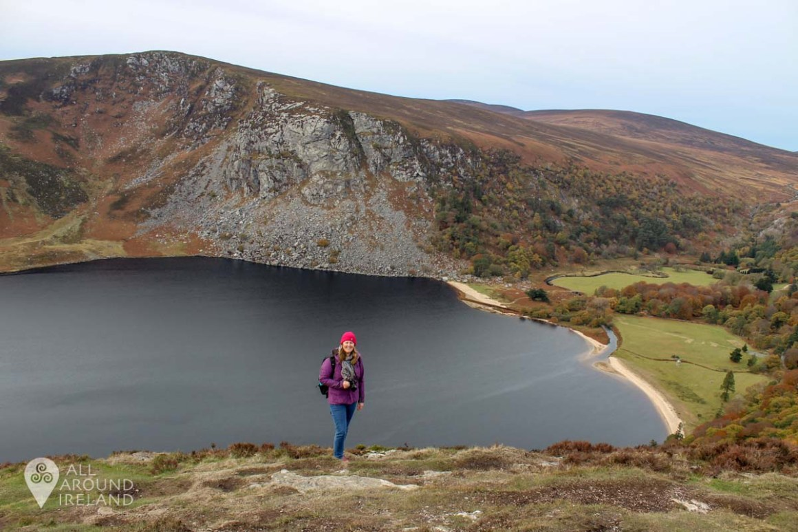 Standing in front of Lough Tay or Guinness Lake