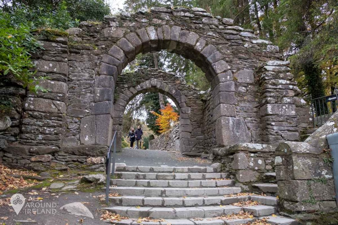 Two granite arches which were part of a larger gateway to Glendalough