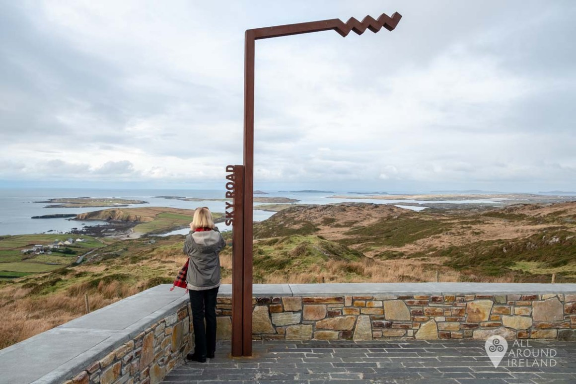 Taking in the views from Sky Road, near Clifden in Connemara
