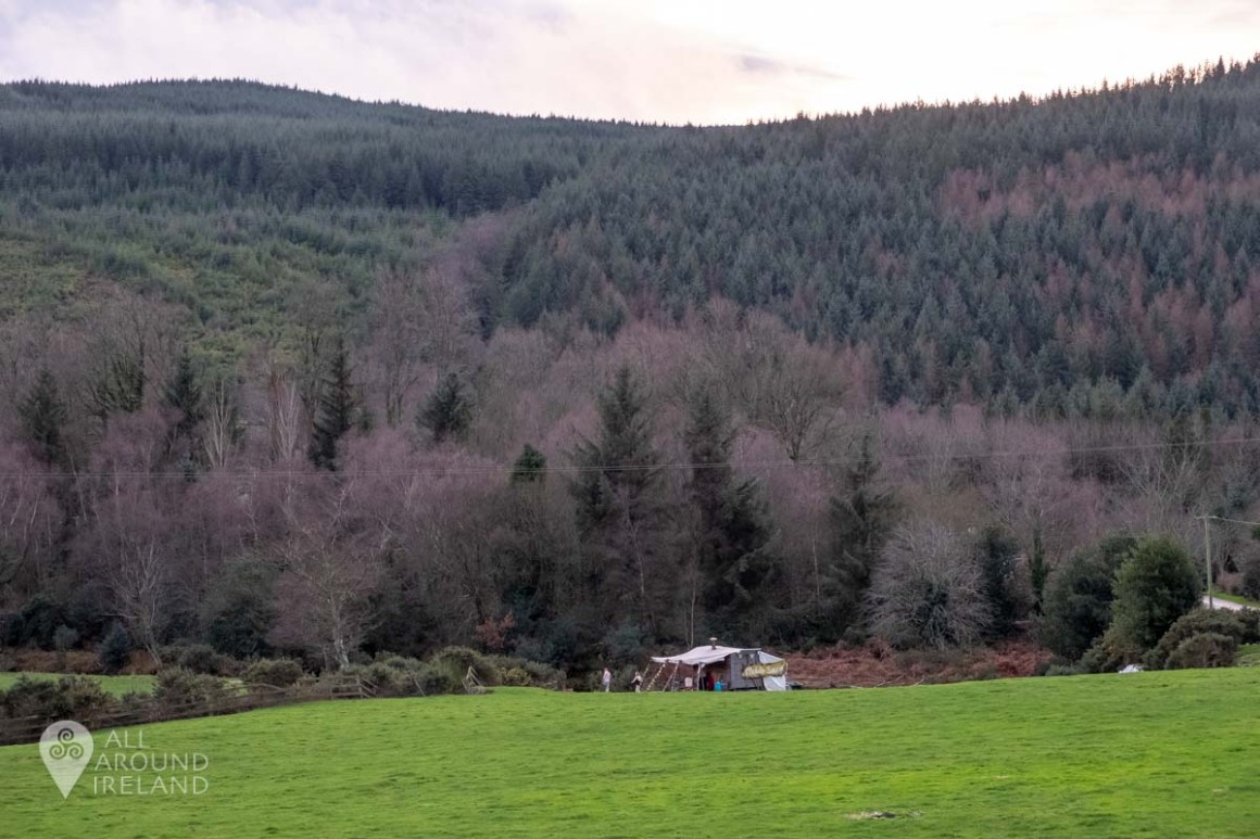 View of the sauna from the carpark at Glenmalure Lodge