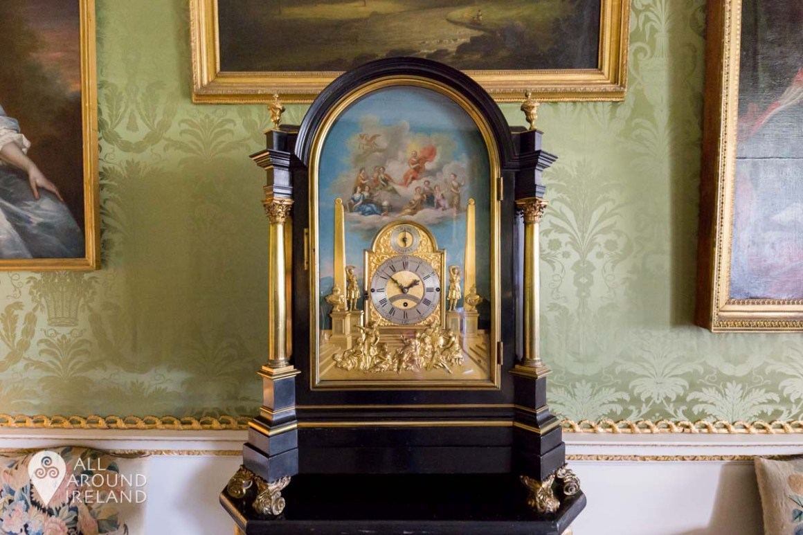 Musical clock by Charles Clay in the Green Drawing Room at Castletown