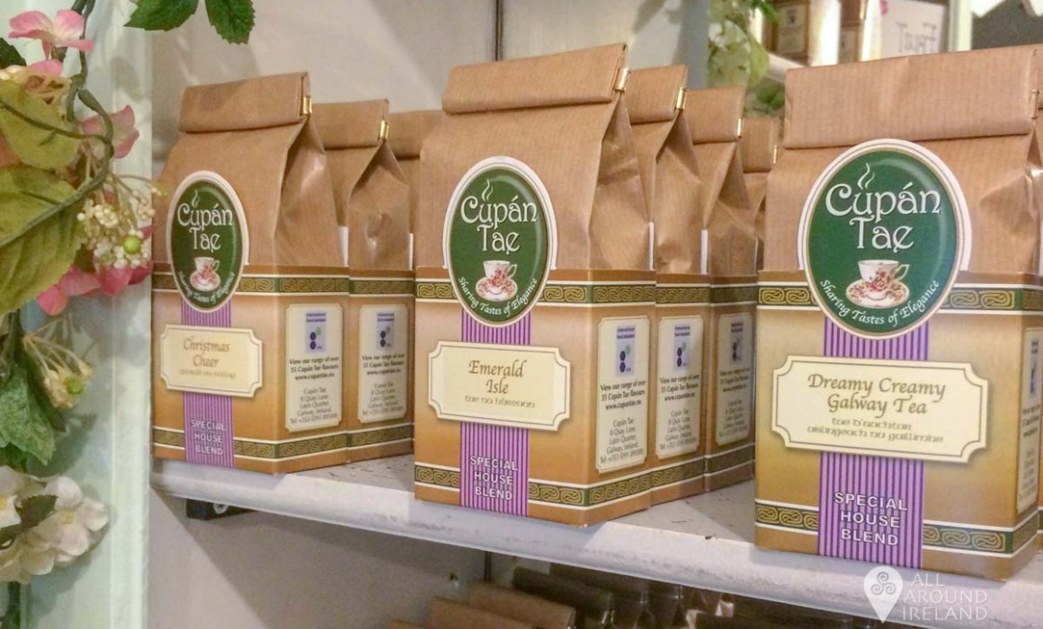 Speciality blends packed and for sale at Cupan Tae in Galway