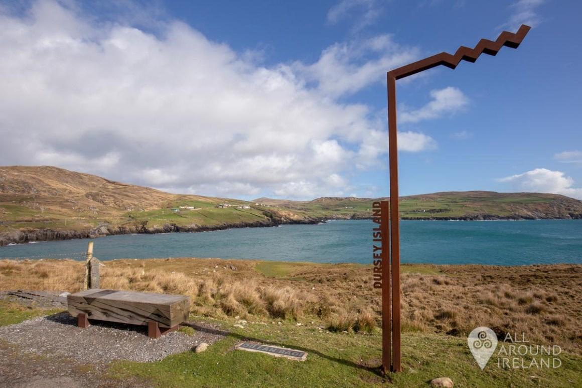 Wild Atlantic Way signpost near on Dursey Island