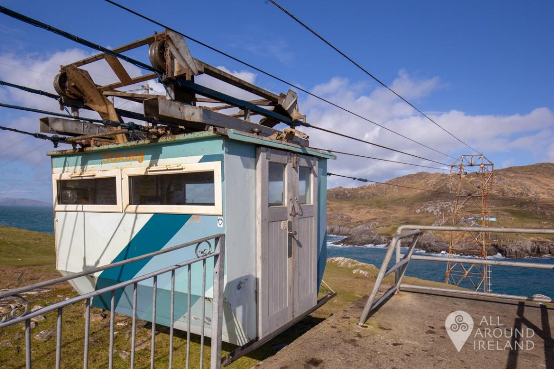 The cable car waiting to depart from Dursey Island