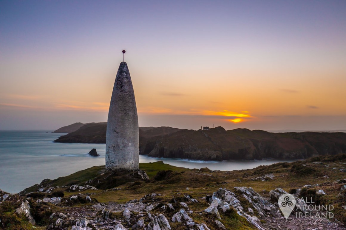 Last light at the Baltimore Beacon.