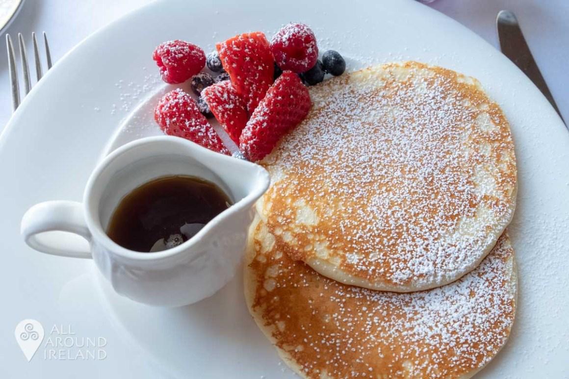 Pancakes for breakfast in the Lady Helen