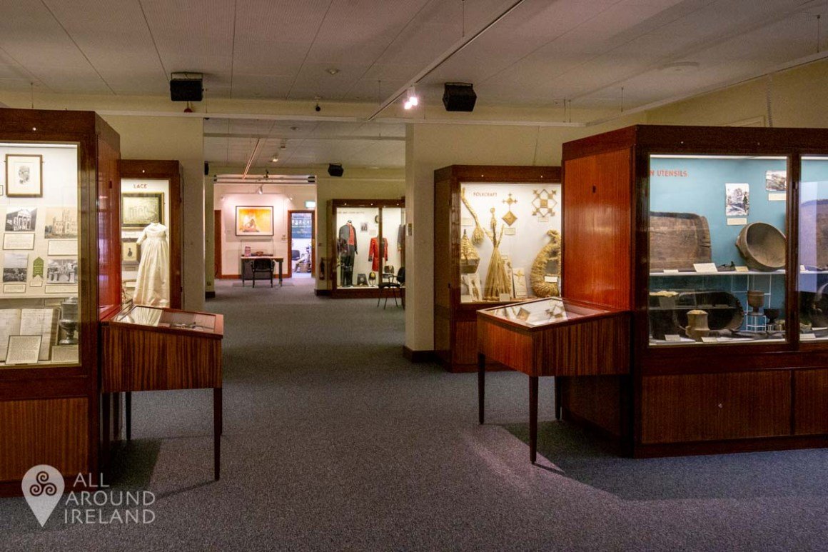 Interior shot of collections on display at Armagh County Musuem