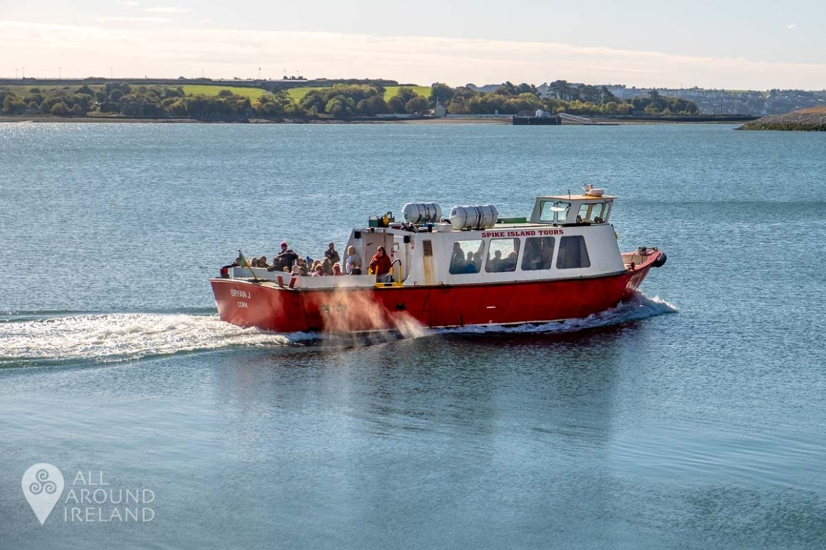 Boat leaving the harbour bound for Spike Island