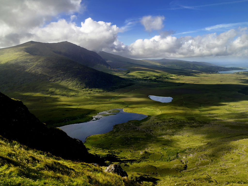 View from Conor Pass in Dingle - unique things to do in Ireland