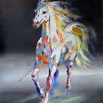 Cheap Paintings For Sale The White Horse Abstract Art