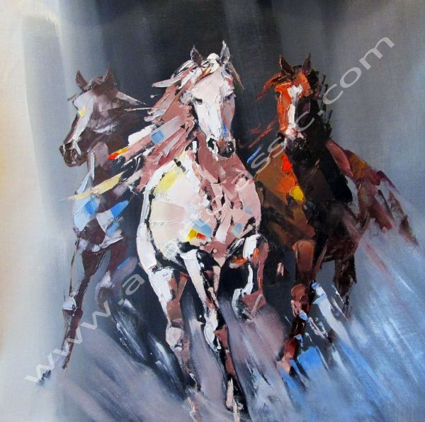 Abstract Horse Art Painting